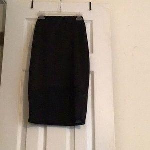Small Charlotte Russe black skirt see thru bottom